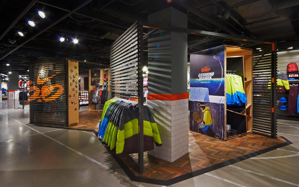 Nike Town London Colin Cornwell Design Amp Art Direction