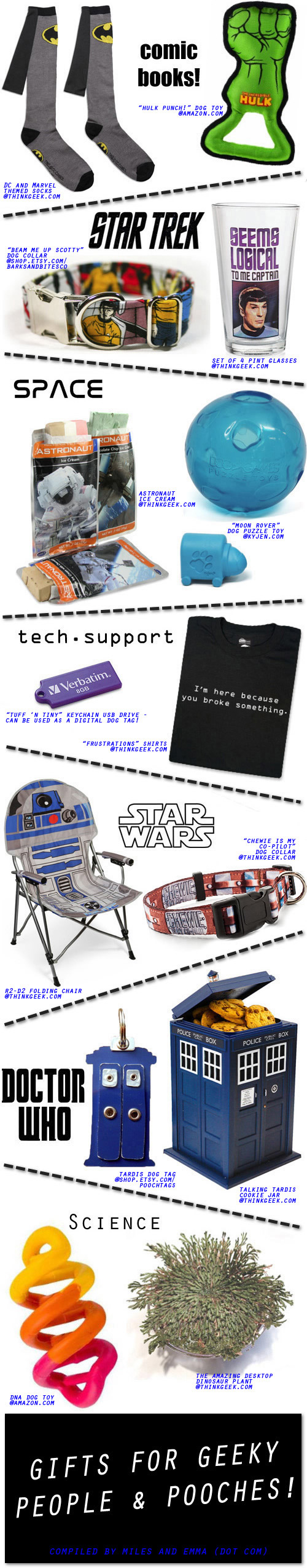 Gifts for Geeky People & Pooches!