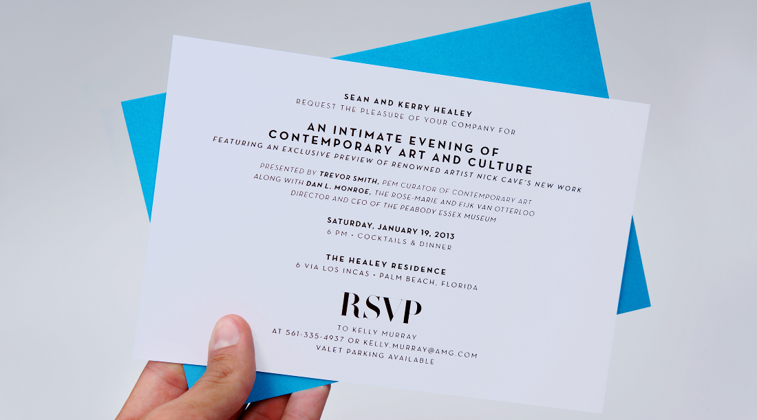 Miami Beach Invitation  Adam Sherkanowski Design