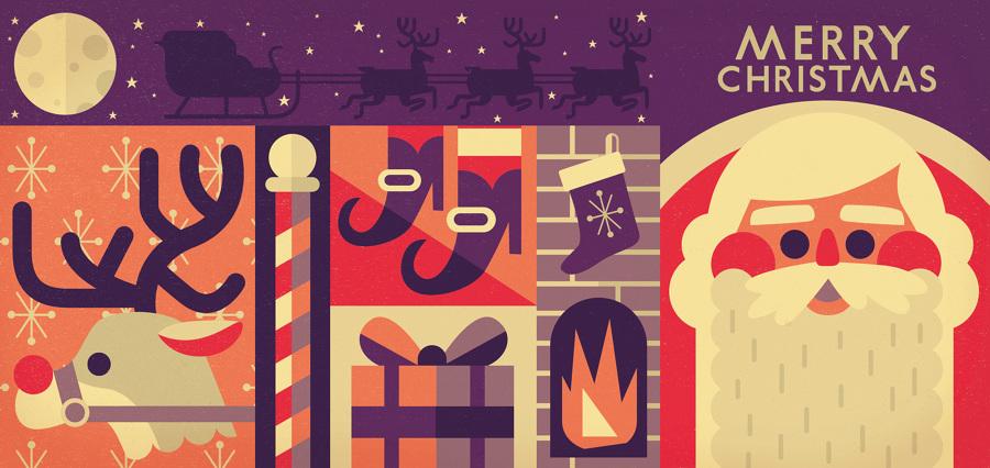 Christmas Cards Owen Davey Illustration