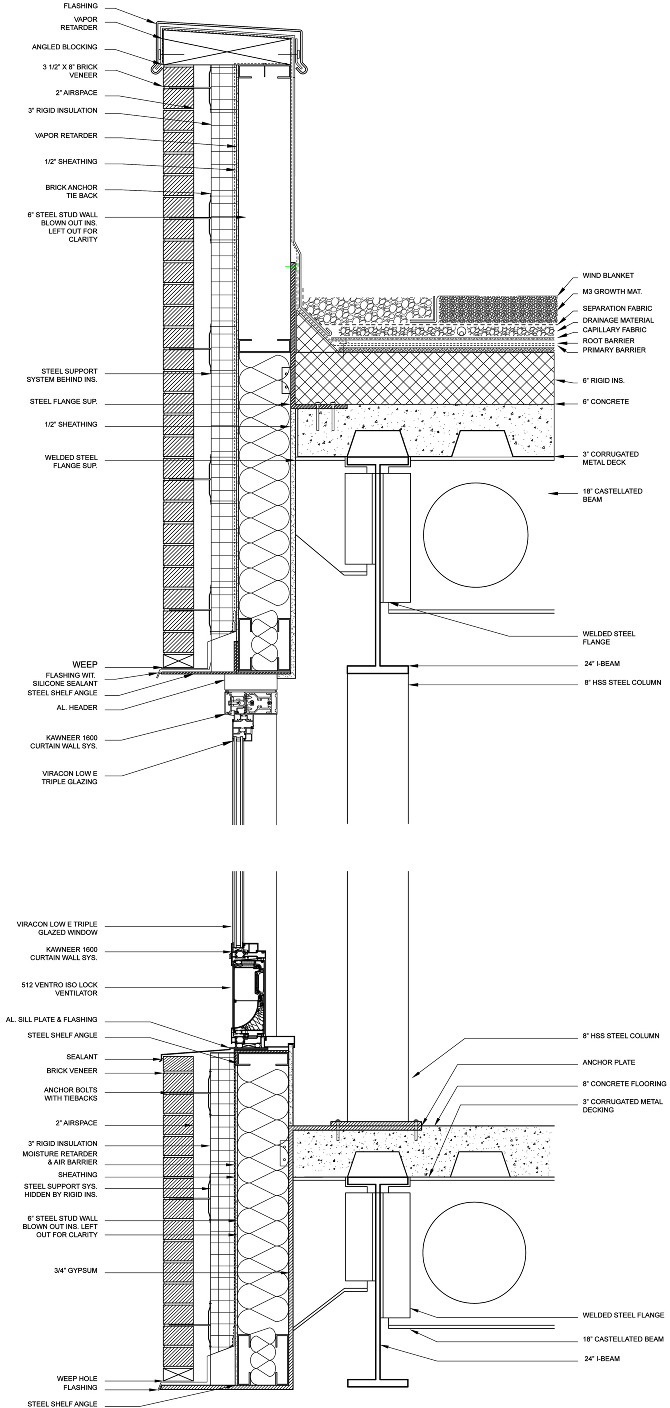 swing chair drawing dining table chairs only enclosure details - baum architecture