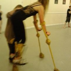 On Chair Dance Folding Visitor Giraffe - Harriet Rose Modelmaker