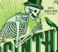Absinthe Label & Print - Adam Hill / Velcrosuit - Graphic ...