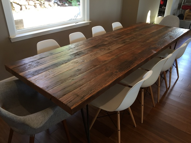 Reclaimed OldGrowth Douglas Fir Dining Table  Ambrose