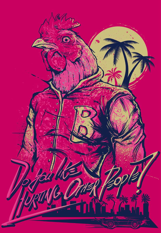 Amazing Hotline Miami artwork by protski - NeoGAF