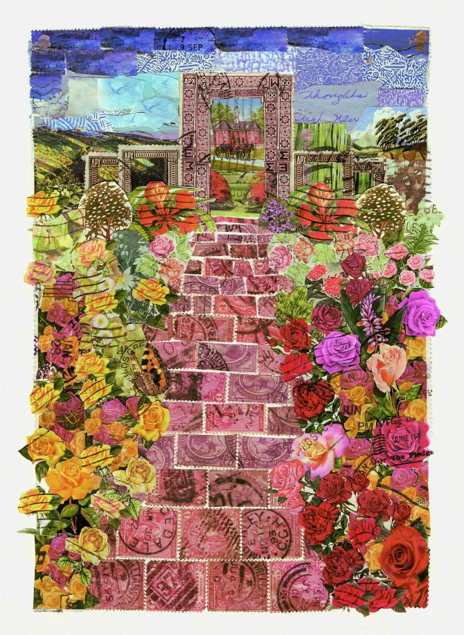 Gardens and Flora  Rachel Markwick  Fine art  collage