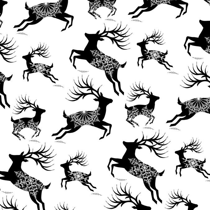 Christmas Reindeer Pattern Laura Barrett Illustration