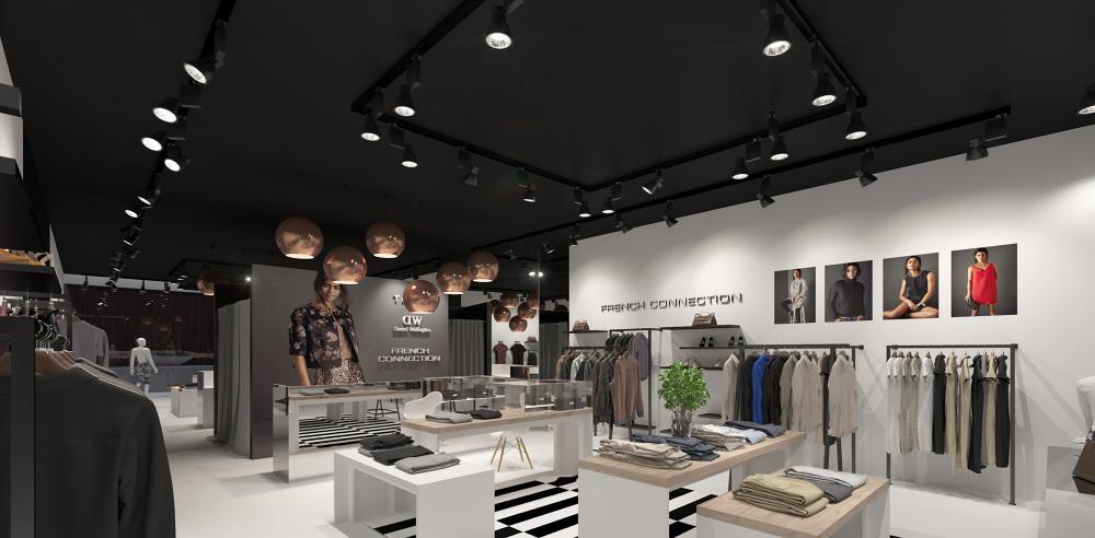 kitchen floor outdoor oven interior visualization of the multi-brand store - dizonaurai