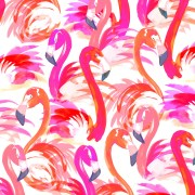 """flamingo"" pattern design cotton"