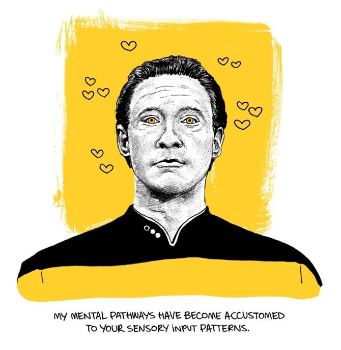 Star Trek Valentines Maritsa Patrinos Illustration