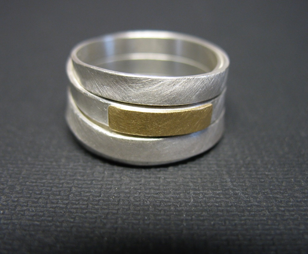 Wickelring Silber Gold n22  Letizia Plankensteiner