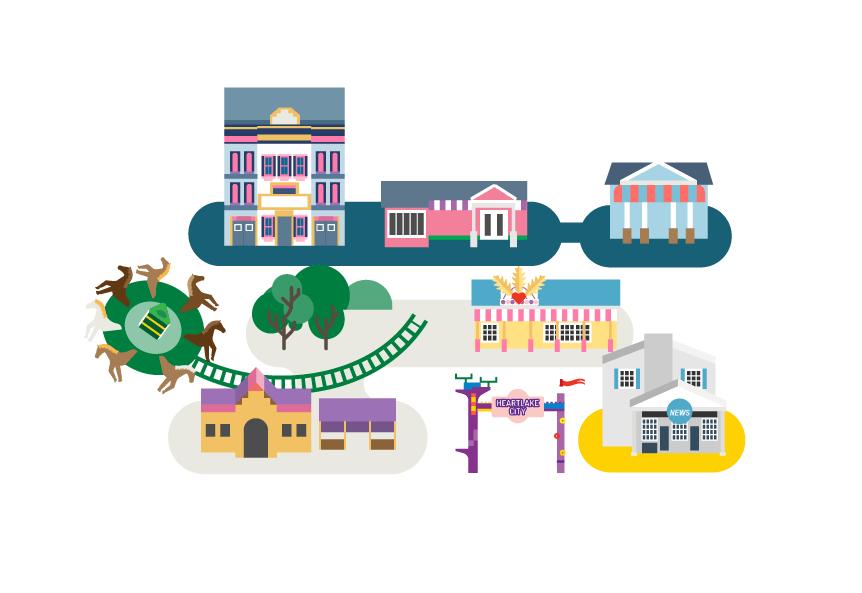 Legoland Map Jing Zhang Illustration