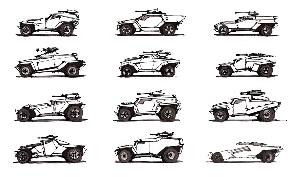 Video Game Vehicles  DRAWTHROUGH the personal and professional work of Scott Robertso