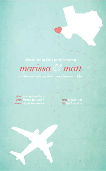 Going Away Party Invite Melissa Stites Design