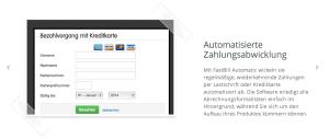 automatisierte Zahlungsabwicklung Fastbill automatic