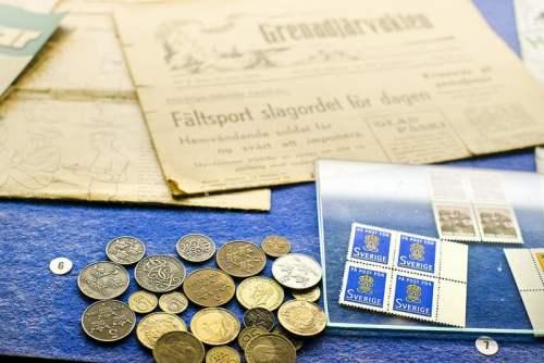 Gehören zum alten Eisen - Schwedische Münzen. Barzahlen früher