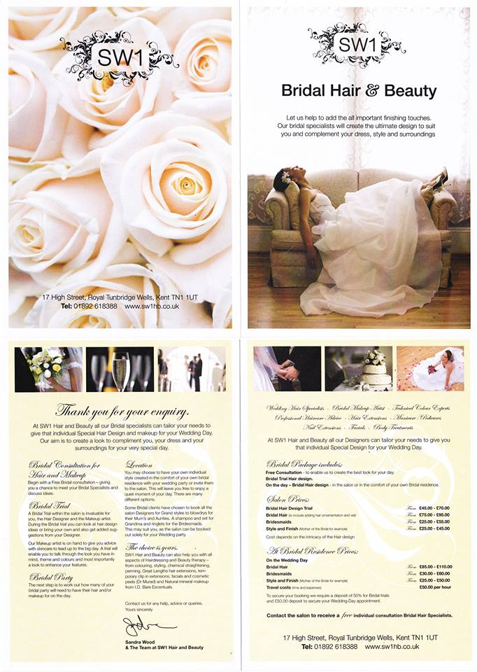 Wedding Hair Packages Sw1 Hair Beauty Bridal Salon 17 High