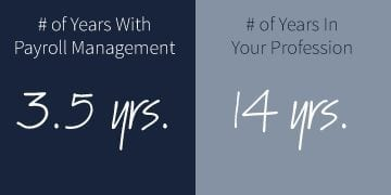 Number-of-Years-at Payroll Management Kim St Germain