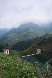 Vu d'un barrage dans le nord du Vietnam