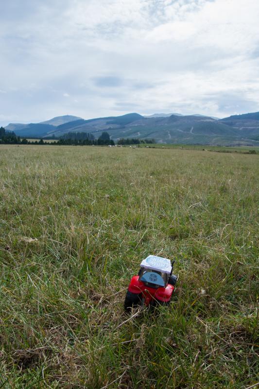 Bébé tracteur en Nouvelle-Zélande !