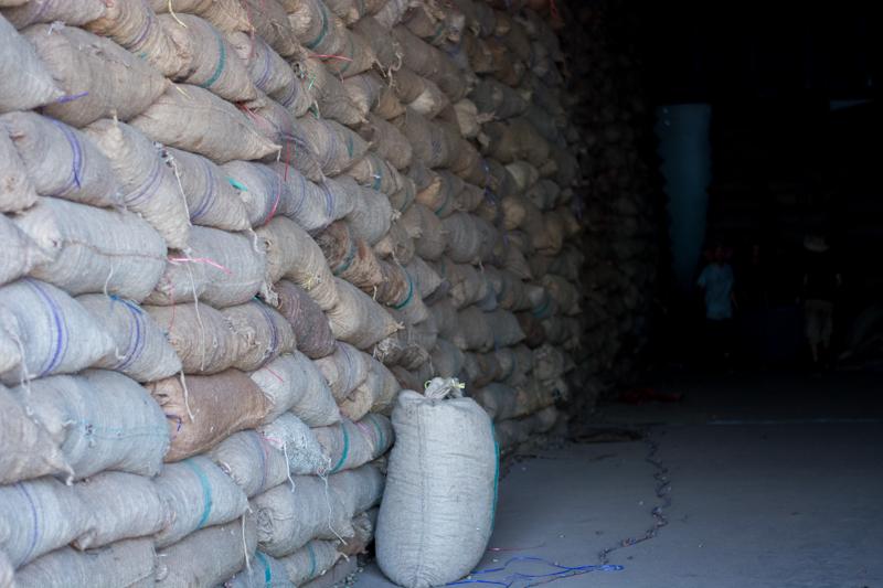 Stockage des noix de cajou