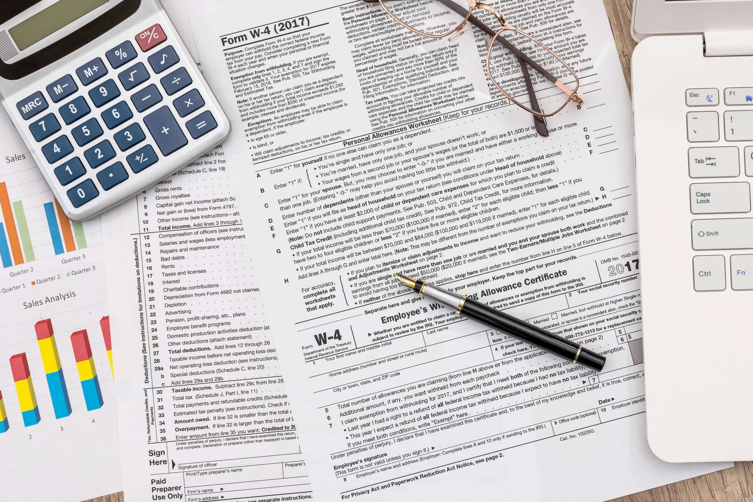 Filling Out An Irs W 4 Form