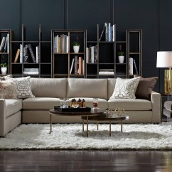 Elliot Fabric Sectional Living Room Furniture Collection Center Bedford Indiana Lovely Mitchell Gold Sofa Decor Modern Design Ideas