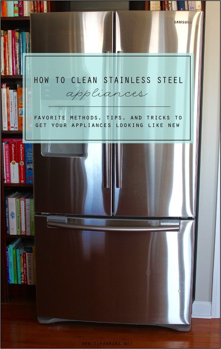 Cleaning Stainless Steel Refrigerator