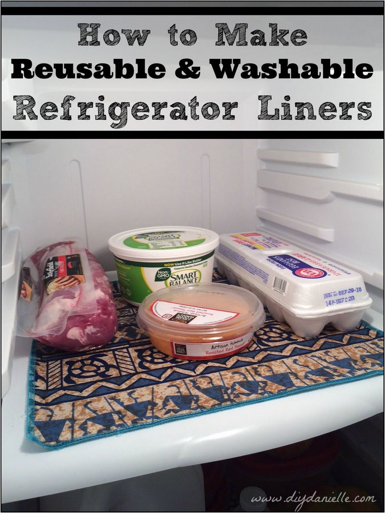 Diy Refrigerator Shelf Liners