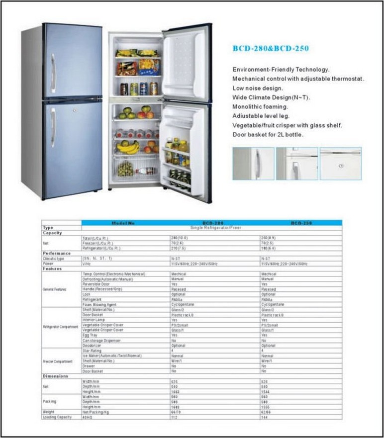 Double Door Refrigerator Measurements