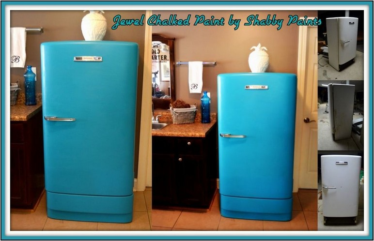 How To Paint A Refrigerator With Chalk Paint