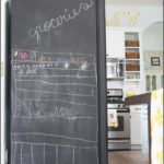 How To Paint A Refrigerator With Chalkboard Paint