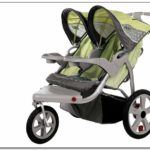 Instep Safari Double Jogging Stroller Green Gray