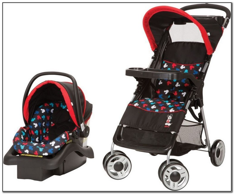 Mickey Mouse Car Seat And Stroller