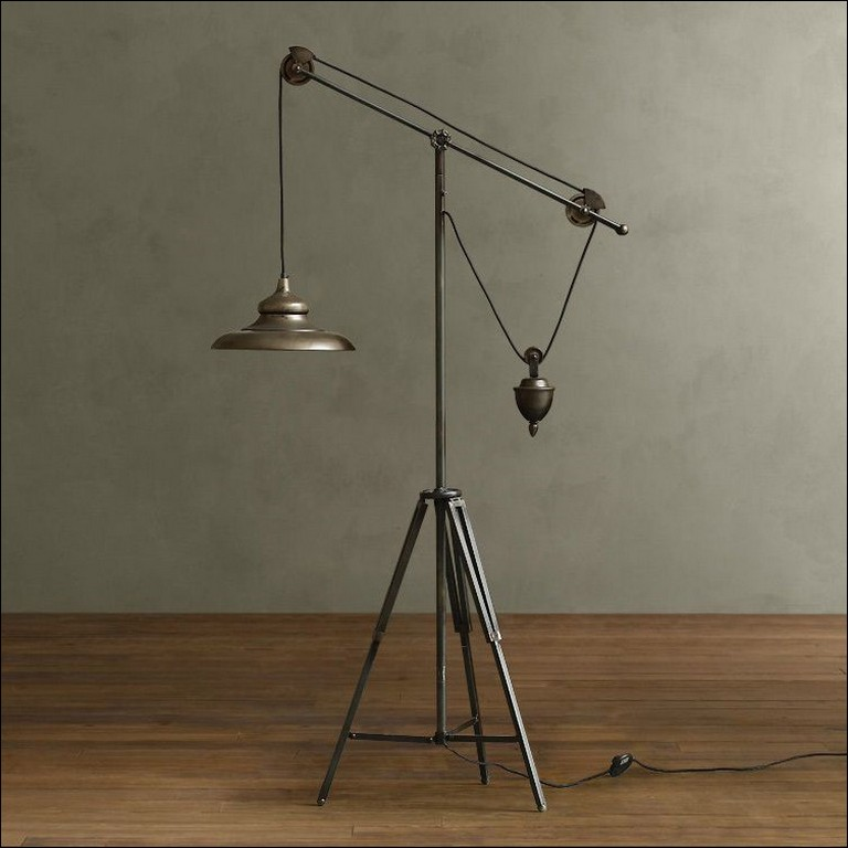 Pulley Lamp Floor