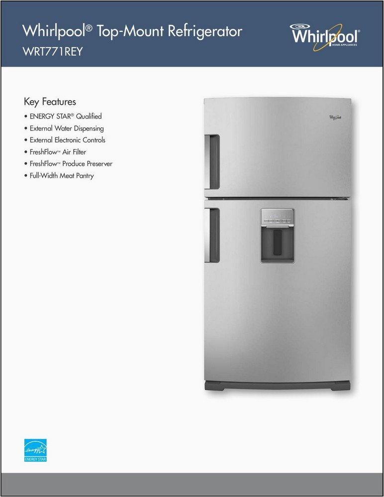 Whirlpool Gold Series Refrigerator Manual
