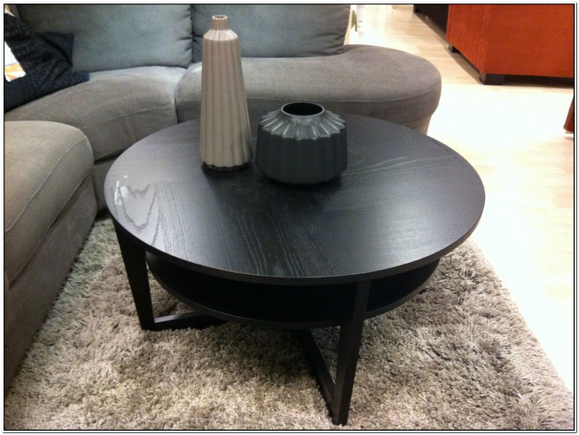 Round Black Coffee Table Ikea