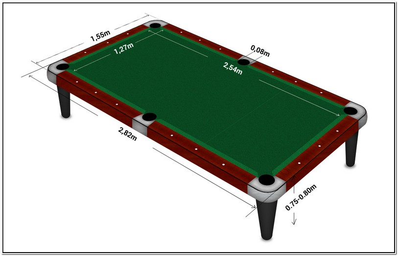 Whats The Size Of A Regulation Pool Table