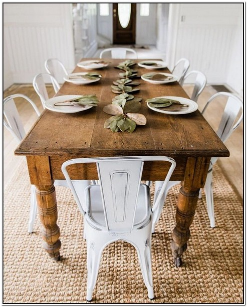 White Farmhouse Table And Chairs For Sale