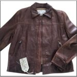 Banana Republic Mens Brown Leather Jacket