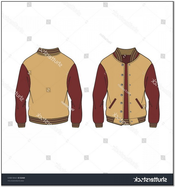 Blank Letterman Jacket Template