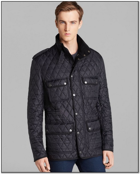 Burberry Brit Mens Black Diamond Quilted Jacket