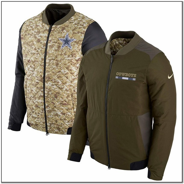 Dallas Cowboys Nike Salute To Service Sideline Bomber Jacket