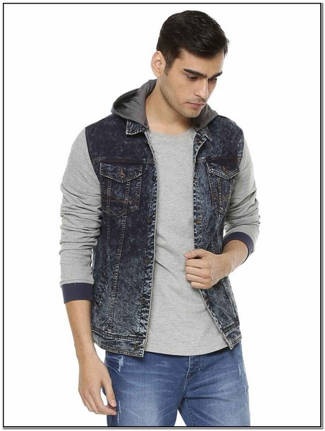 Denim Hoodie Jacket Mens India