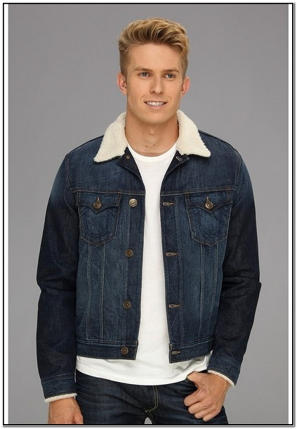 Denim Jacket With Sherpa Lining Mens