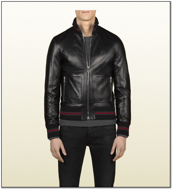 Gucci Leather Jacket Mens