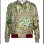 Gucci Mens Silk Bomber Jacket