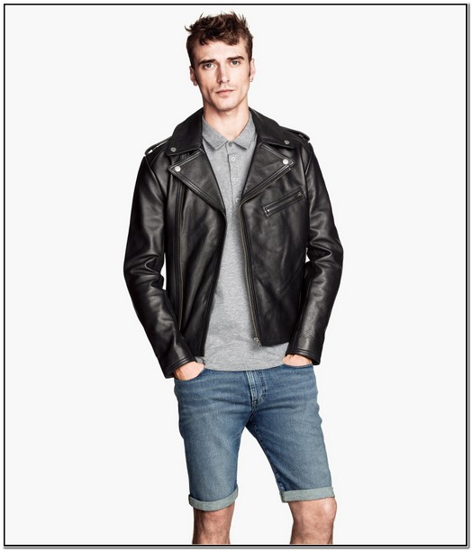 H&m Mens Faux Leather Jacket