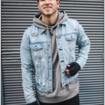 Jean Jacket Over Hoodie Mens