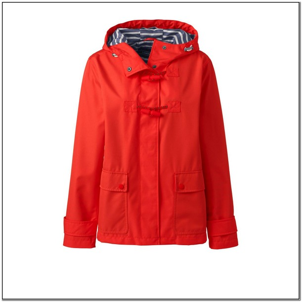 Lands End Rain Jacket With Hood